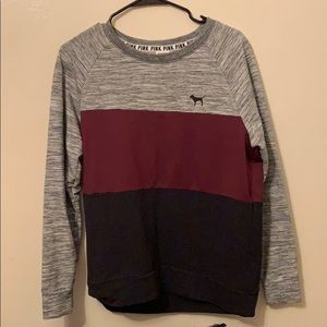 Burgundy Color Block PINK Sweater